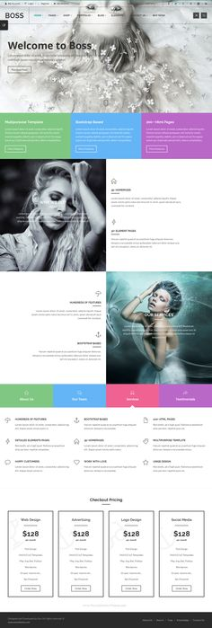 Boss is an awesome fully responsive multipurpose template developed with #Bootstrap. Boss is all you need to make awesome websites. Clean, valid coded and well commented with a powerful documentation. Easy to use, easy to edit with detailed elements pages. #website