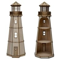 The Laser Cut Half Inch Scale Dollhouse Lighthouse Kit by Greenleaf Dollhouses