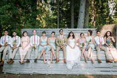 Rustic Style Wedding Party