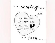 May 2019 Pregnancy announcement calendar, Social Media