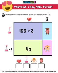 Are you looking for fun, free, and printable Valentine's Day Math Activities for elementary and middle school?
