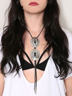 Double Concho Bolo Necklace - Gypsy Warrior