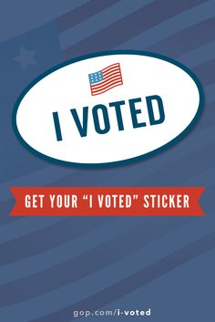 Proud voter? Get your sticker & Repin!