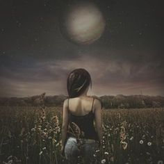 All i want is to stand in a field and to smell the daisies, to taste air, to feel the earth want me, and love everything, even when they are completely unreachable. All I Want, Things I Want, Love, Surreal Art, Photo Manipulation, Daisies, Surrealism, Ps, Everything