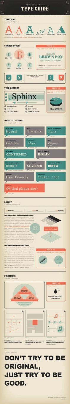 Font Type Guide. Très instructif pour les apprentis