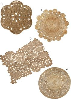 Round jute rugs have a ton of tactile appeal for adding a layer of texture in a ., Round jute rugs have a ton of tactile appeal for adding a layer of texture in a …, Jute Carpet, Diy Carpet, Rugs On Carpet, Sisal, Mandala Rug, Rope Rug, Weaving Textiles, Round Rugs, Rugs In Living Room
