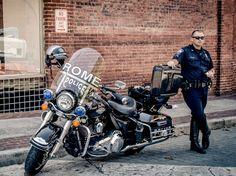 Harley Davidson Police bike Italy Rome