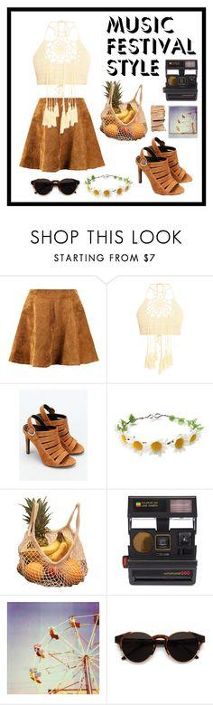 """Music festival"" by alygurl ❤ liked on Polyvore featuring Kendall + Kylie, Impossible Project, Brika, Polaroid and RetroSuperFuture"