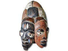 Sie sehen hier eine wunderschöne Yoruba Maske. Diese dekorative Maske der Yoruba…