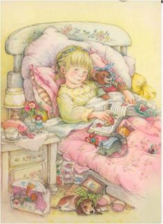 Lisi Martin is a Spanish artist and illustrator famous for her highly detailed and romanticized pictures of children. Lisi was born in Barcelona, Catalonia in Holly Hobbie, Munier, Creation Photo, Spanish Artists, Get Well Cards, Bedtime Stories, Children's Book Illustration, Vintage Children, Clipart