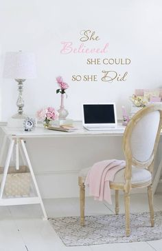 shabby chic office accessories. Vintage Rose Collection My Office Space Jo-Anne Coletti White Office, Romantic, Shabby Chic Style By Noemi Accessories S
