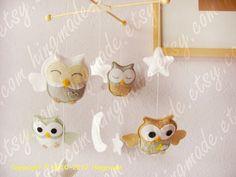 Baby Mobile  Owl Mobile  Nursery Mobile  Crib Mobile