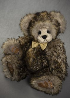 Branson - about 19 inches - faux fur and mohair. #artistbear #artistbears #teddybear #spring #vickylougher Teddybear, Faux Fur, Bears, Toys, Spring, Artist, Handmade, Animals, Activity Toys