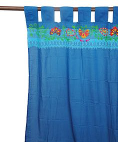 Look at this #zulilyfind! Butterfly Embroidered Curtain Panel #zulilyfinds