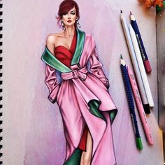 Simplicity is the ultimate sophistication for - Art - mode Dress Design Sketches, Fashion Design Sketchbook, Fashion Design Drawings, Fashion Sketches, Drawing Sketches, Sketching, Fashion Illustration Tutorial, Dress Illustration, Fashion Illustration Dresses