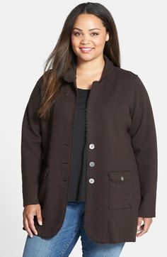 41817c990cdca Eileen Fisher Double Knit Merino Shaped Jacket (Plus Size) available at   Nordstrom Double