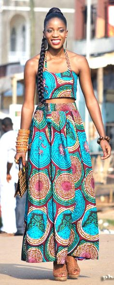 ♥African Fashion ■ Gorgeous African Print Maxi