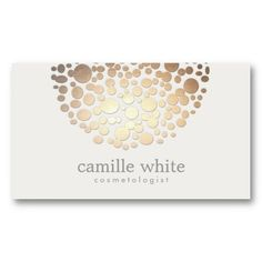 Cosmetology Faux Gold Leaf Circle Motif Business Card