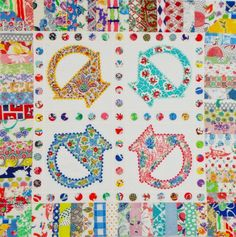 Polka Dot Baskets by Glenna Hailey at Hollyhock Quilts.  2014 Bloggers Quilt Festival.