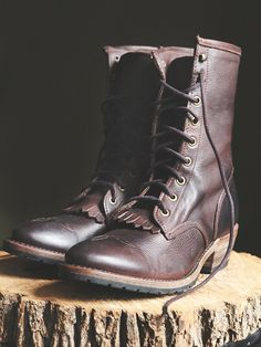 Vintage Shoe Company Galveston Field Boot at Free People Clothing Boutique
