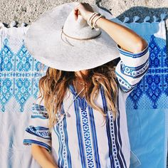 What I'd rather be doing right now need a #siesta! Embroidered towel  top from @elinalebessi and handcrafted hat from @brookesboswell . #elinalebessi #brookesboswell #details #hat by cuppajyo