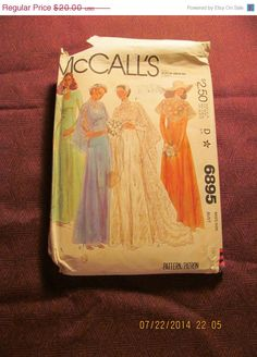 SALE Uncut 1970's McCall's Sewing Pattern 6895 by EarthToMarrs, $14.00
