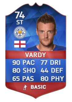 CONGRATULATIONS Jamie #Vardy! #TOTW12 Football Fans, Football Players, Leicester City Fc, Premier League Teams, Jamie Vardy, Fifa 15, Ronaldo, Trading Cards, Congratulations