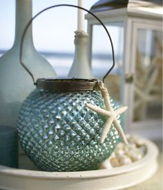 DIY ~ paint inside old light globe and use old wire