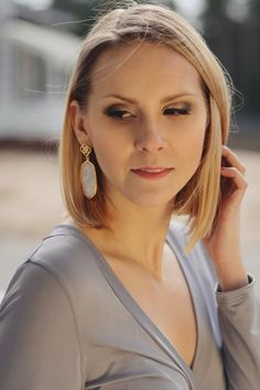 Empoverment earrings, shop now Shop Now, Pearl Earrings, Pearls, Shopping, Jewelry, Fashion, Moda, Pearl Studs, Jewlery