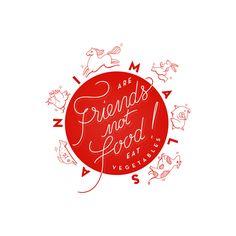 Friends not food ! by Maria Vittoria Benatti, via Behance