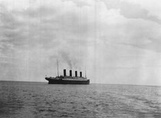 Famous Moments In History, From A Different Angle: 1912 - The last photo of the Titanic before it sunk.