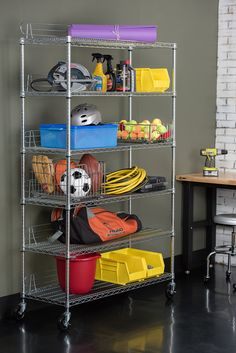 6-Tier NSF Wire Shelving Rack with Wheels, Chrome