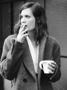 Coffee & a smoke.