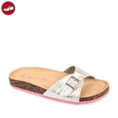 Birkenstock, Damen Clogs & Pantoletten Mehrfarbig Pink/White, Mehrfarbig - Pink/White - Größe: 41