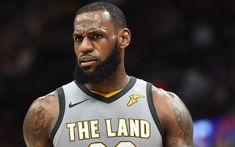 Download wallpapers LeBron James, Cleveland Cavaliers, American basketball player, NBA, USA, portrait, basketball