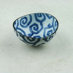 Blue and White Soap Dish