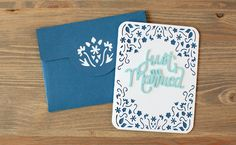 Just Married Card made with the Classically Modern Cards Cricut Cartridge. Make It Now with the Cricut Explore machine in Cricut Design Space.
