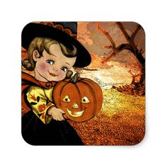 HAPPY HALLOWEEN SQUARE STICKER #halloween #holiday #creepyhollow #stickers