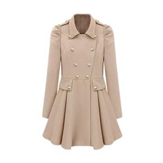 Cool Look Pleats Cream-colored Trench Coat ($137) ❤ liked on polyvore........only if it was cheaper :(