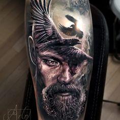 - only best tattoos - Artist Arlo Tattoo . Badass Tattoos, Body Art Tattoos, Sleeve Tattoos, Tattoos For Guys, Cool Tattoos, Portrait Tattoos, Arlo Tattoo, Tattoo Video, 100 Tattoo