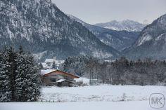Kalter Blick auf #Inzell #Oberbayern #Silvester #Winter #Berge #Mountain #Snow