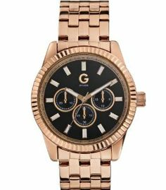 G by GUESS Women's Rose Gold-Tone Classic Watch, GOLD