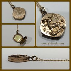 Another c1890 Victorian friend to take with you. This gold-filled locket still has its original bezel and cover to hold a picture. $185. Call to purchase. #giltjewelry #victorian #antiquegold #stag #locket #antiquejewelry #sentimental #victorianjewelry