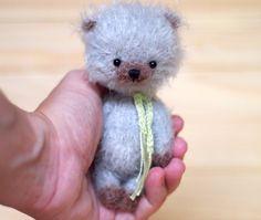 ooak 4 inches miniature Teddy bear Blythe friend artist teddy