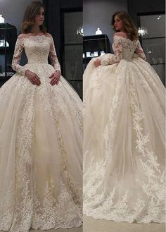 Wedding Dresses Simple, Splendid Tulle Off-the-shoulder Neckline Ball Gown Wedding Dresses With Lace Appliques & Beadings, Shop discount wedding dresses and sales. Don't miss out, shop clearance wedding dresses before they're gone! Wedding Dresses 2018, Cheap Wedding Dress, Bridal Dresses, Flower Girl Dresses, Gown Wedding, Tulle Wedding, Wedding Cakes, Bush Wedding, Bridesmaid Dresses