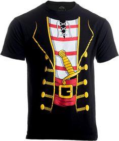 2e2b6cdd4 Amazon.com: Pirate Buccanneer | Jumbo Print Novelty Halloween Costume  Unisex T-shirt Black: Clothing