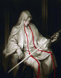 Bleeding statue by Sorrowful-Eternity