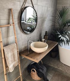 gorgeous 36 Fabulous Natural Bathroom Design Ideas That You Need To Try Best Bathroom Designs, Bathroom Interior Design, Interior Design Living Room, Bathroom Ideas, Bathroom Organization, Bathroom Shelves, Bathroom Colors, Bathroom Mirrors, Remodel Bathroom