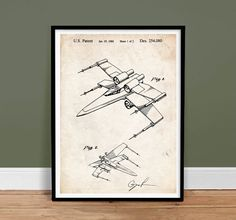 Amazon.com: STAR WARS X-WING FIGHTER PATENT PRINT 18X24 MOVIE POSTER GIFT GEORGE LUCAS 1980 UNFRAMED: Posters & Prints