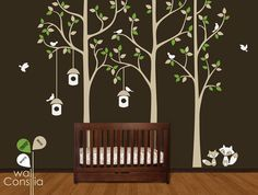 Tree with birds Wall Decal Wall Sticker Vinil wall by WallConsilia